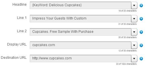 Adwords Dynamic Keyword Insertion Fields
