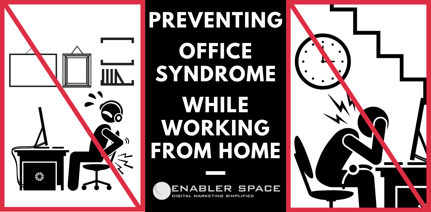 Preventing Office Syndrome While Working From Home