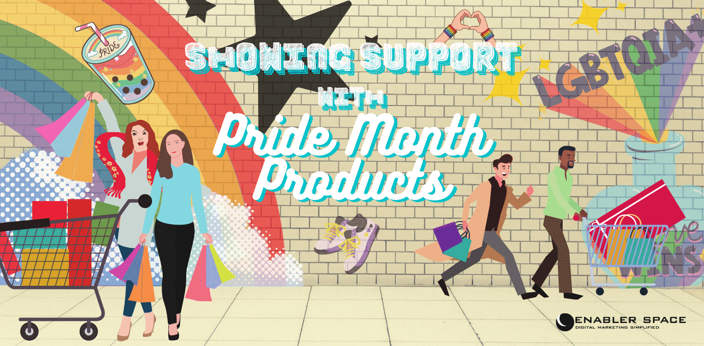 showing support with pride month products