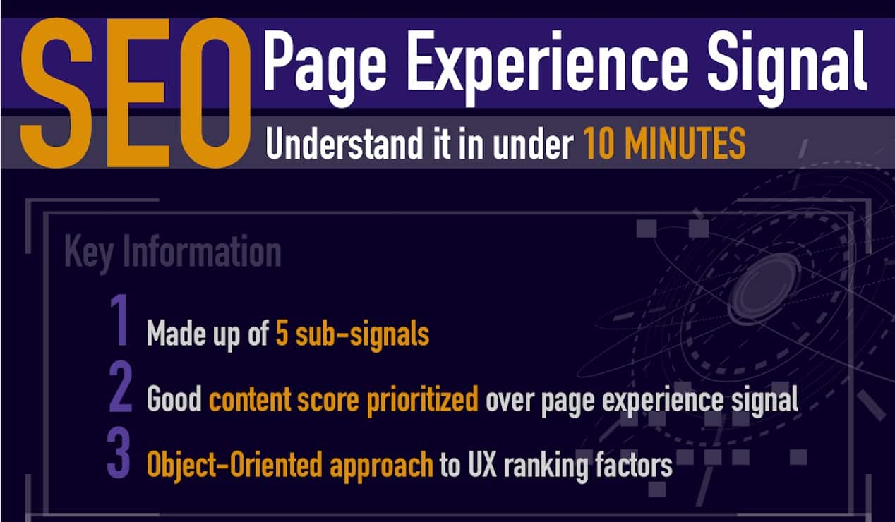 SEO Page Experience Signal Infographic